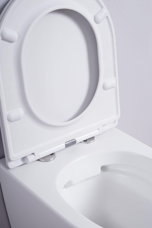 Spülrandloses Wand-WC inkl. Soft-Close Sitz WHR-586071 (matt-weiß)