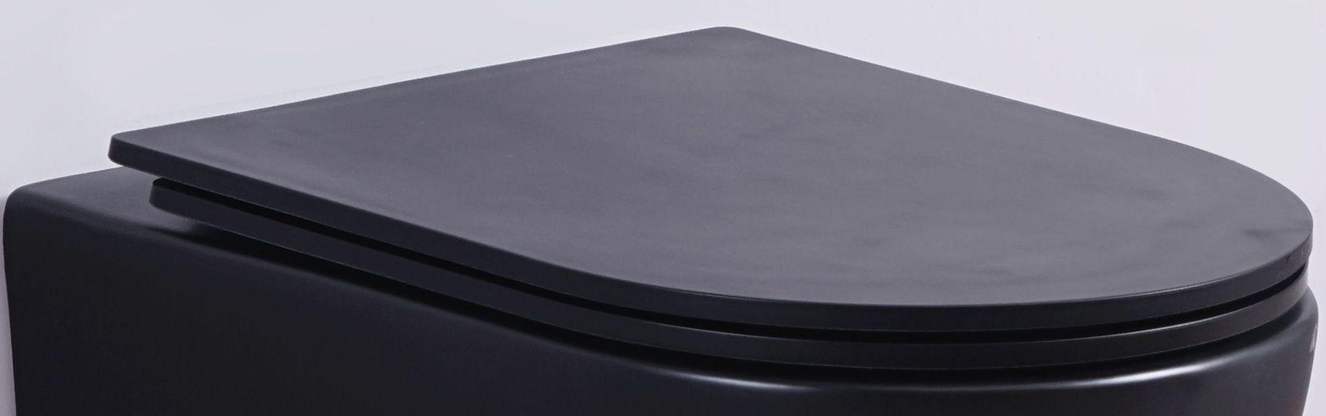 flacher Soft-Close WC-Sitz für WHR-586075 (matt-schwarz)