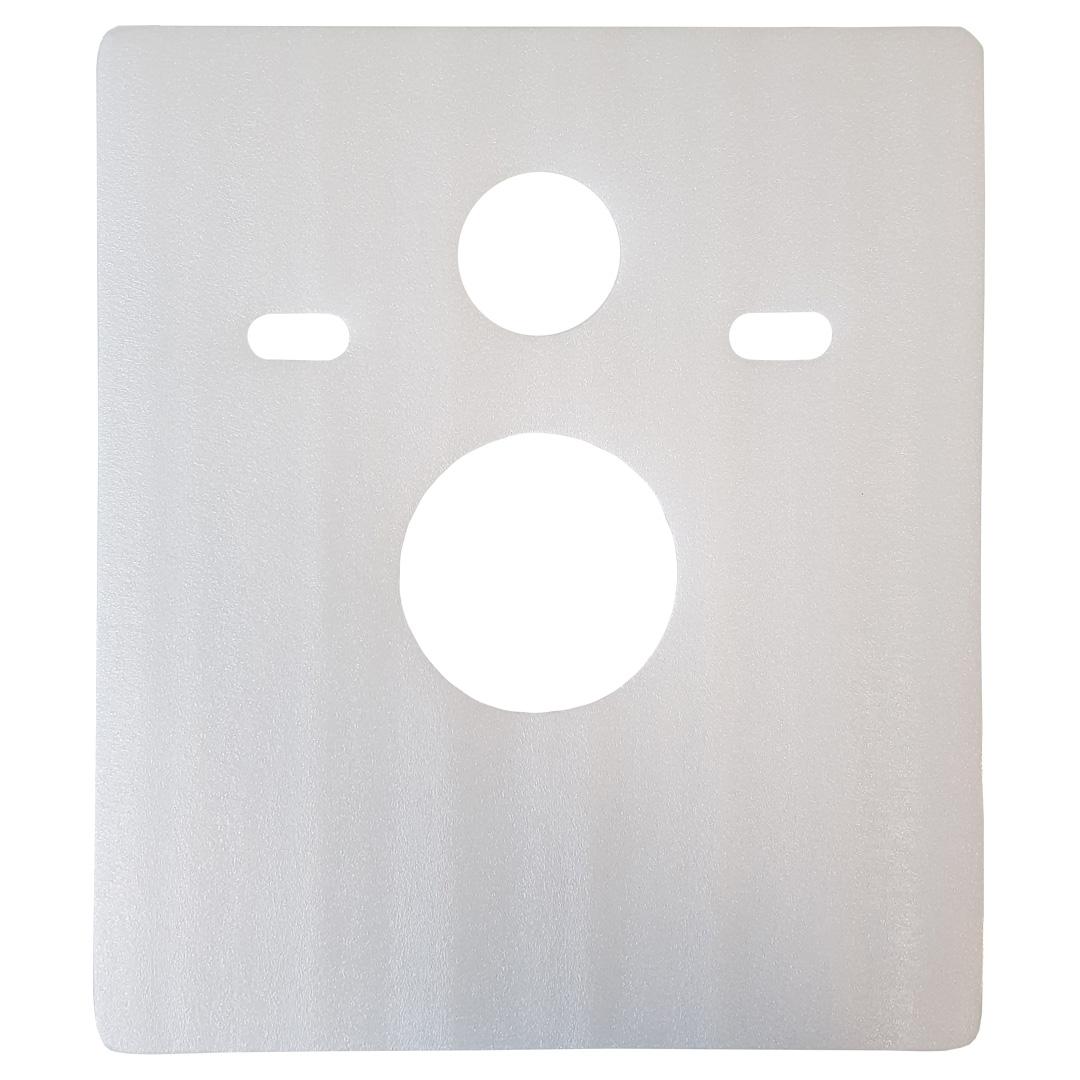 quadratisches Schallschutz-Pad für Wand WC / Wand Bidet