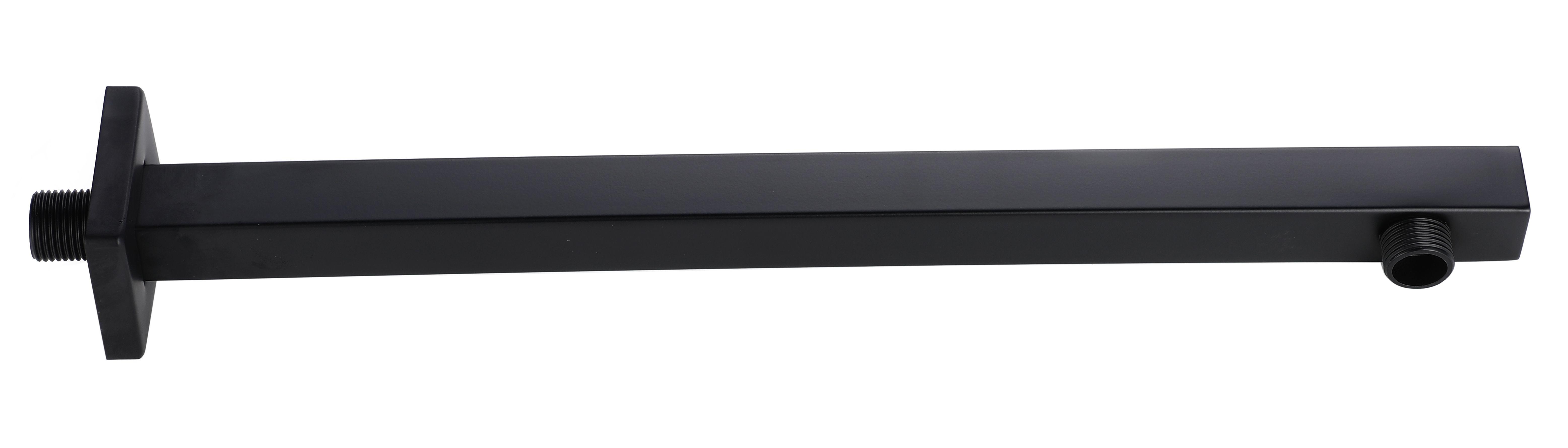 schwarzer 40 cm Designer Brausearm für Regenbrausen (eckig)