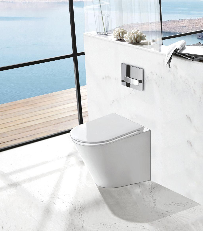 Designer Stand-WC inkl. Soft-Close Sitz BTW-6013