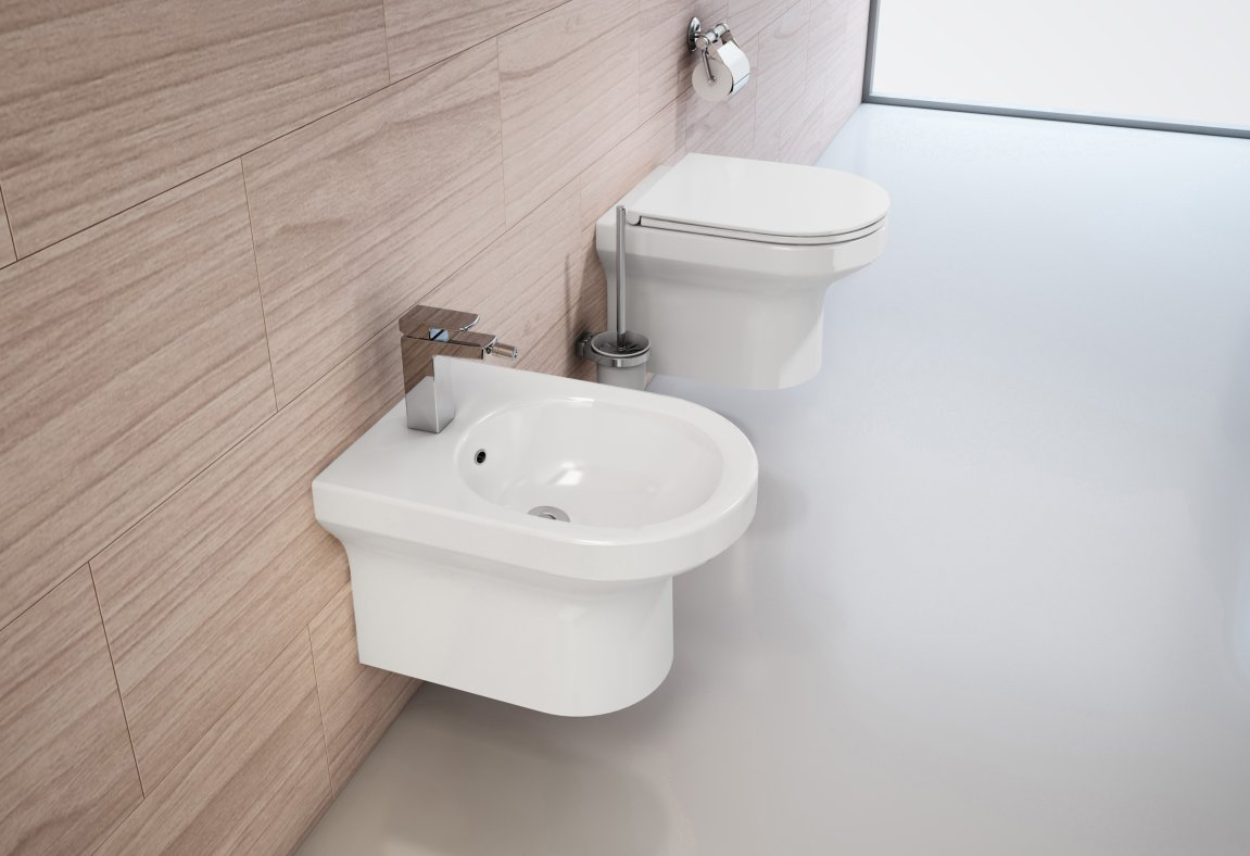 Komplettset Wand-WC WHR-6060 + Wand-Bidet WHB-6068 inkl. Soft-Close Sitz