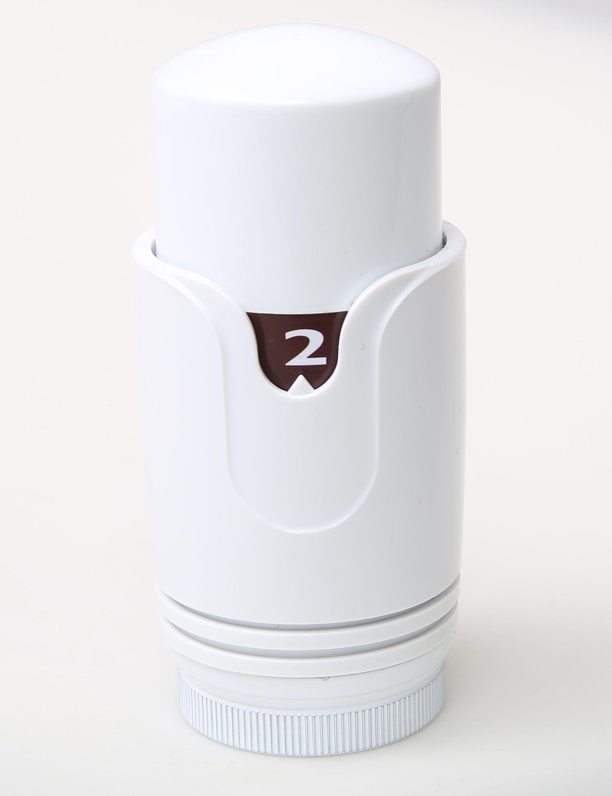 Anschlussgarnitur inkl. Thermostat in weiß (Mittelanschluss)