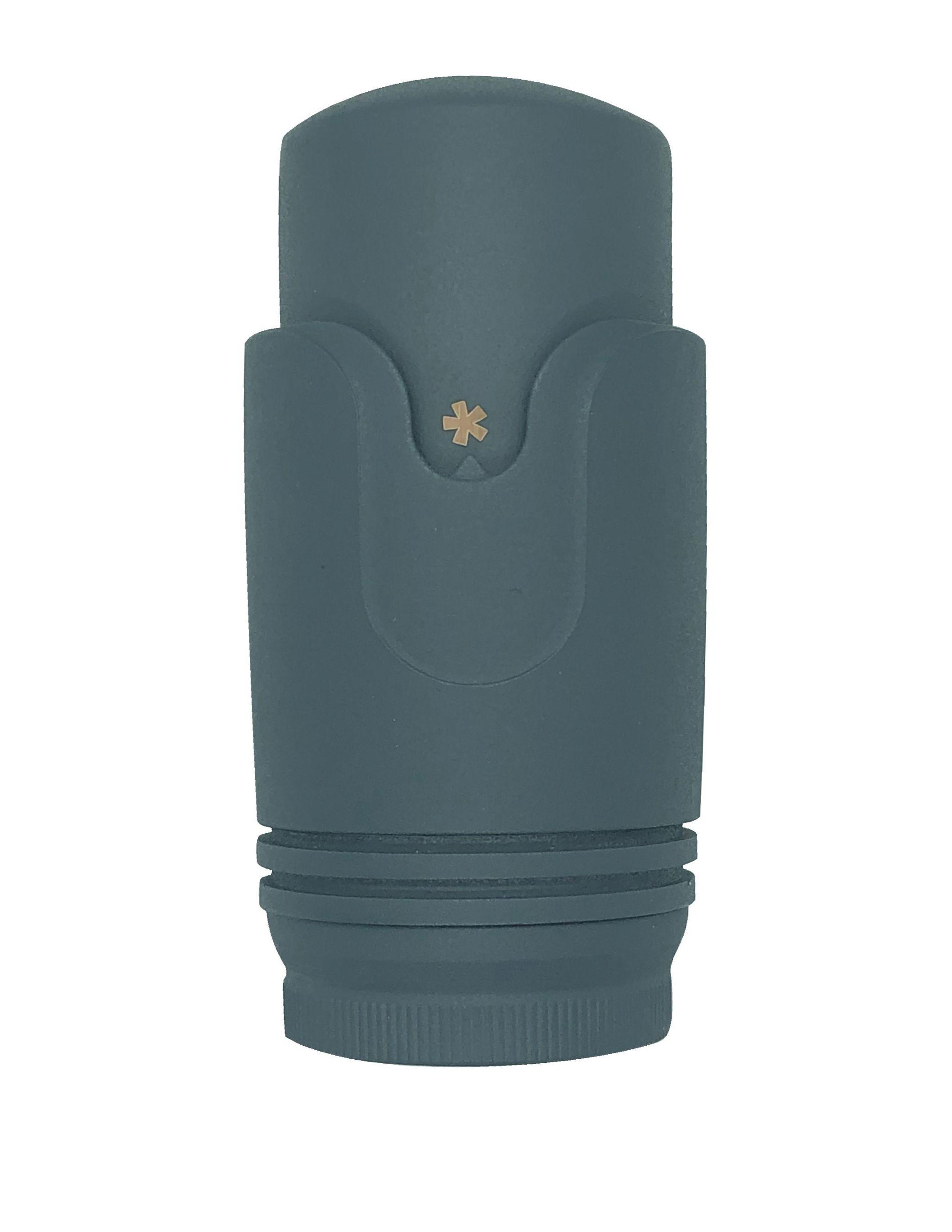 Anschlussgarnitur inkl. Thermostat in anthrazit (Mittelanschluss)