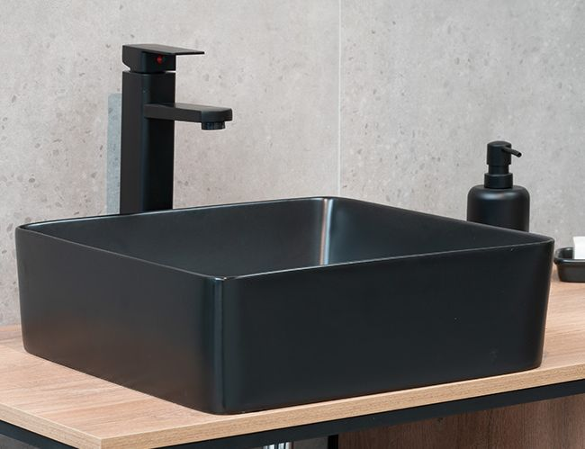 Aufsatzwaschtisch AW582387 (schwarz-matt)