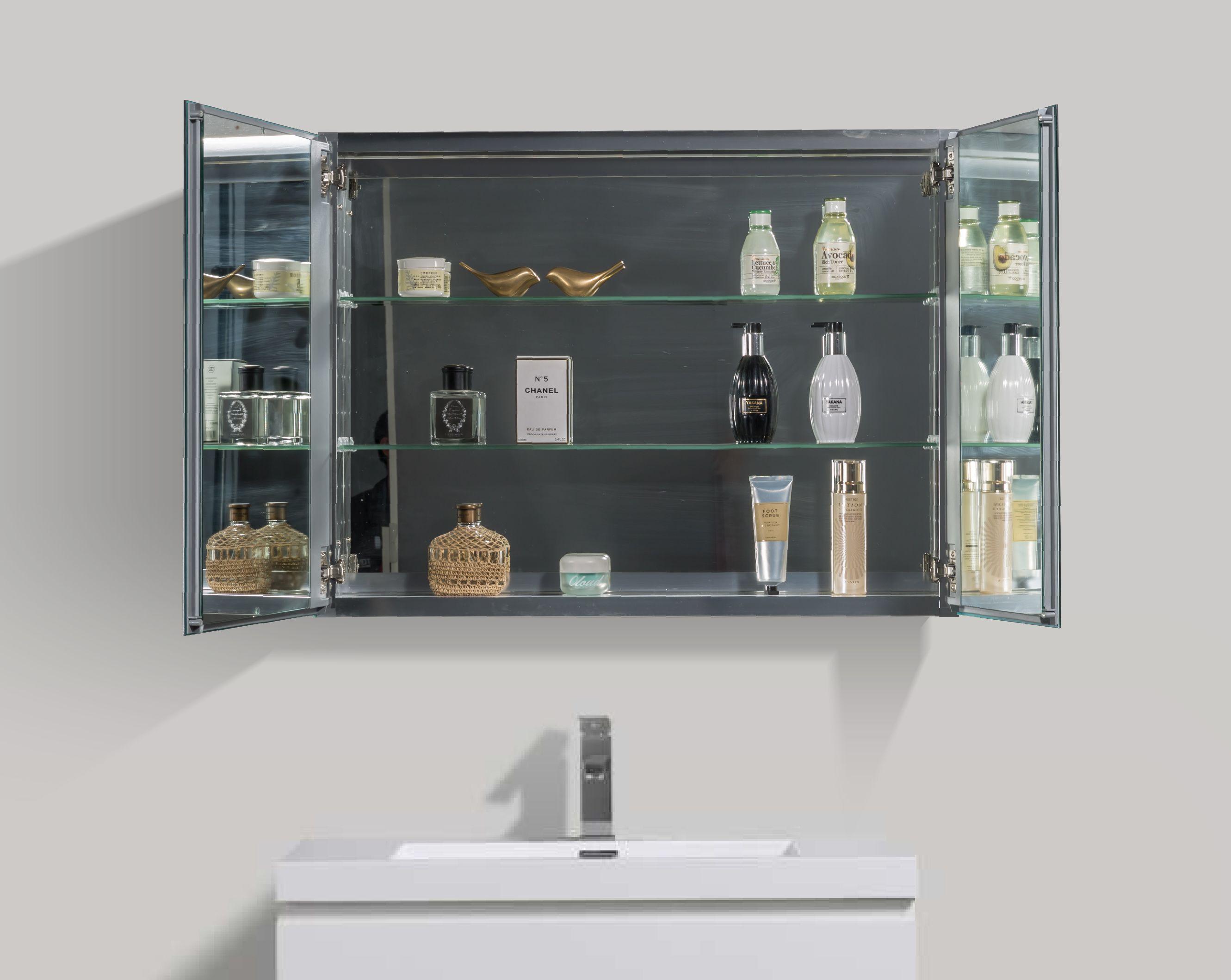 2-türiger LED - Spiegelschrank