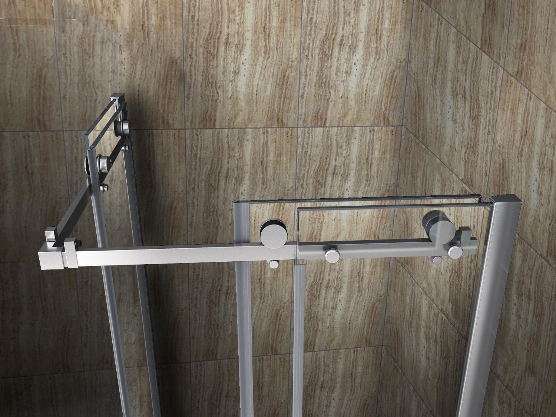Sehr Gut AREA 90 x 90 cm Glas Schiebetür Dusche Duschkabine Duschwand  JH97