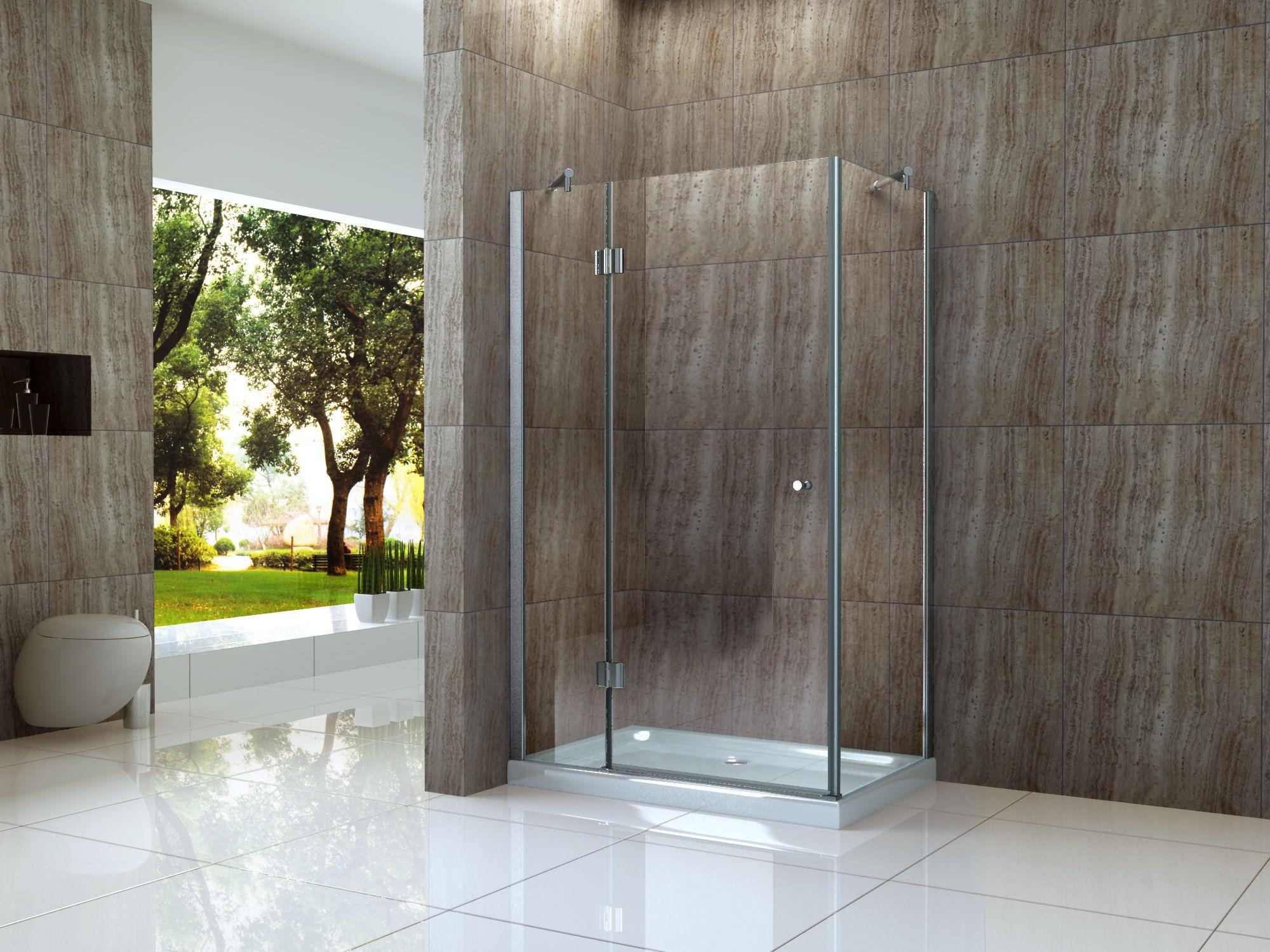 Moderne dusche ohne glas  ARTO Duschkabine 8 mm Glas Dusche Duschwand Duschabtrennung ...