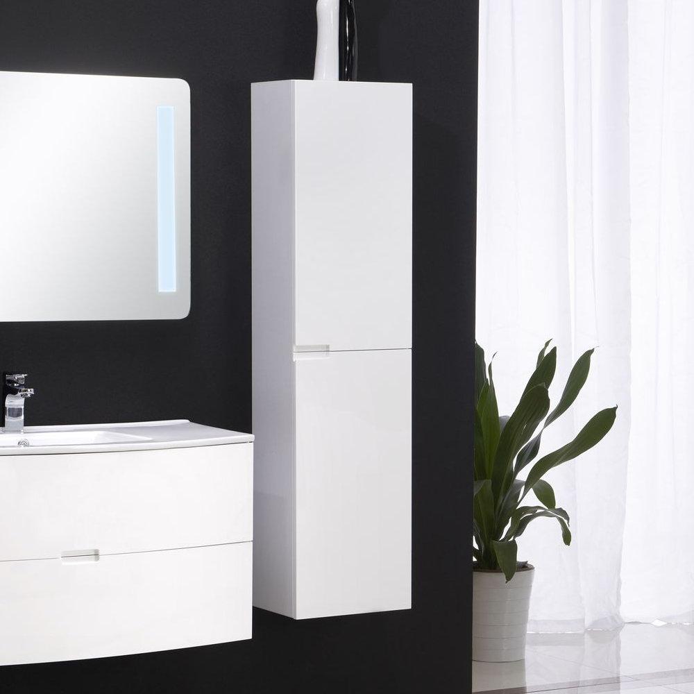 Badmöbel Seitenschrank BURBUJA in weiß