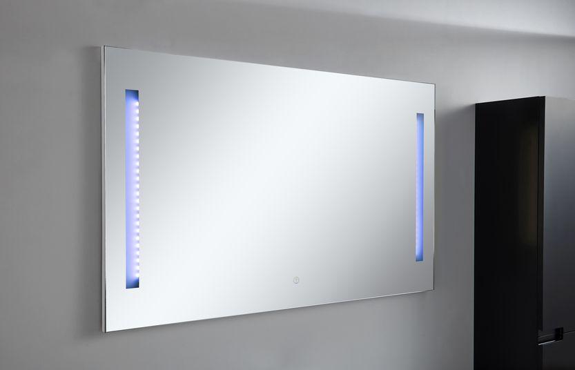 LED-Spiegel BURBUJA in schwarz
