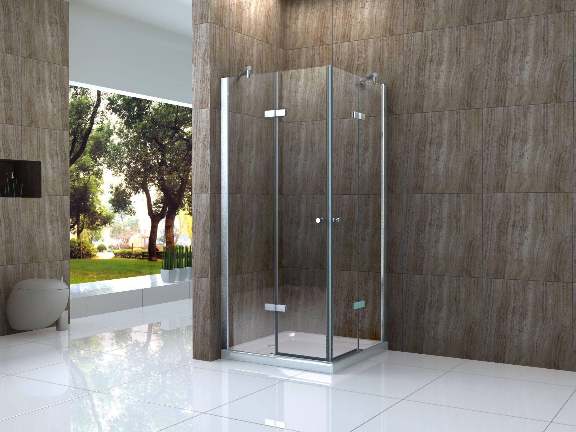CANTO 80 x 90 cm Glas Dusche Duschkabine Duschwand Duschabtrennung ... | {Duschkabine glas 14}