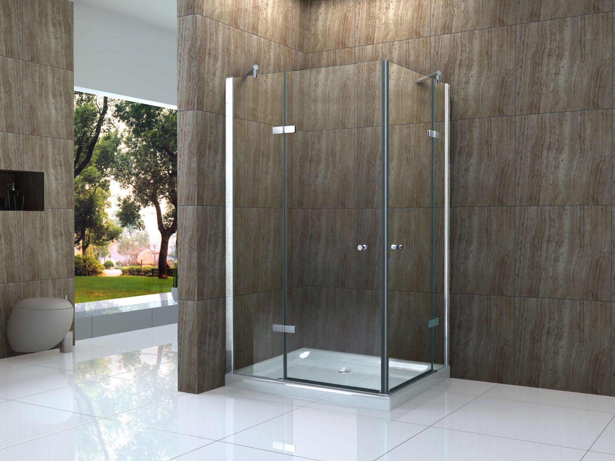 Neu CANTO 120 x 90 cm Glas Dusche Duschkabine Duschwand  PL99