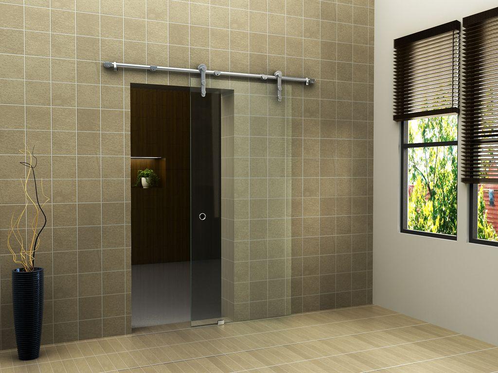 Glas-Schiebetür CLEAR in 102,5 x 205 cm