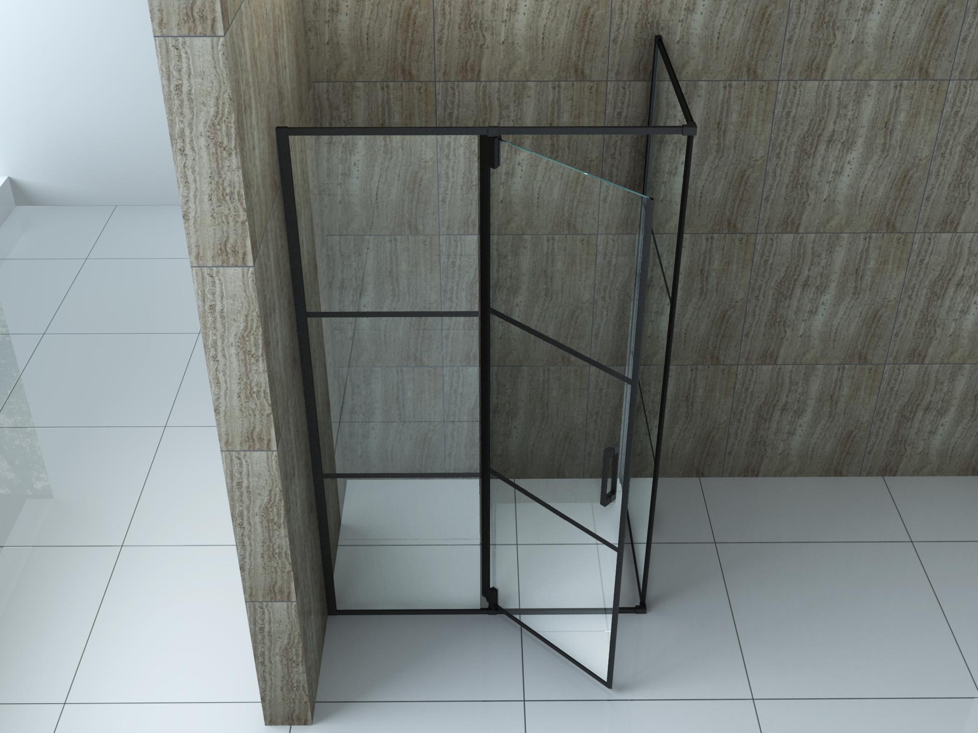 Duschkabine Creato 120 x 90 x 195 cm ohne Duschtasse