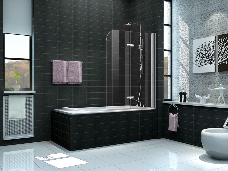 Duschtrennwand DUO 100 x 140 (Badewanne) - alphaBAD