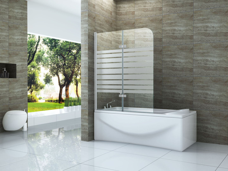 Duschtrennwand DUO-STRIPES 100 x 140 (Badewanne)