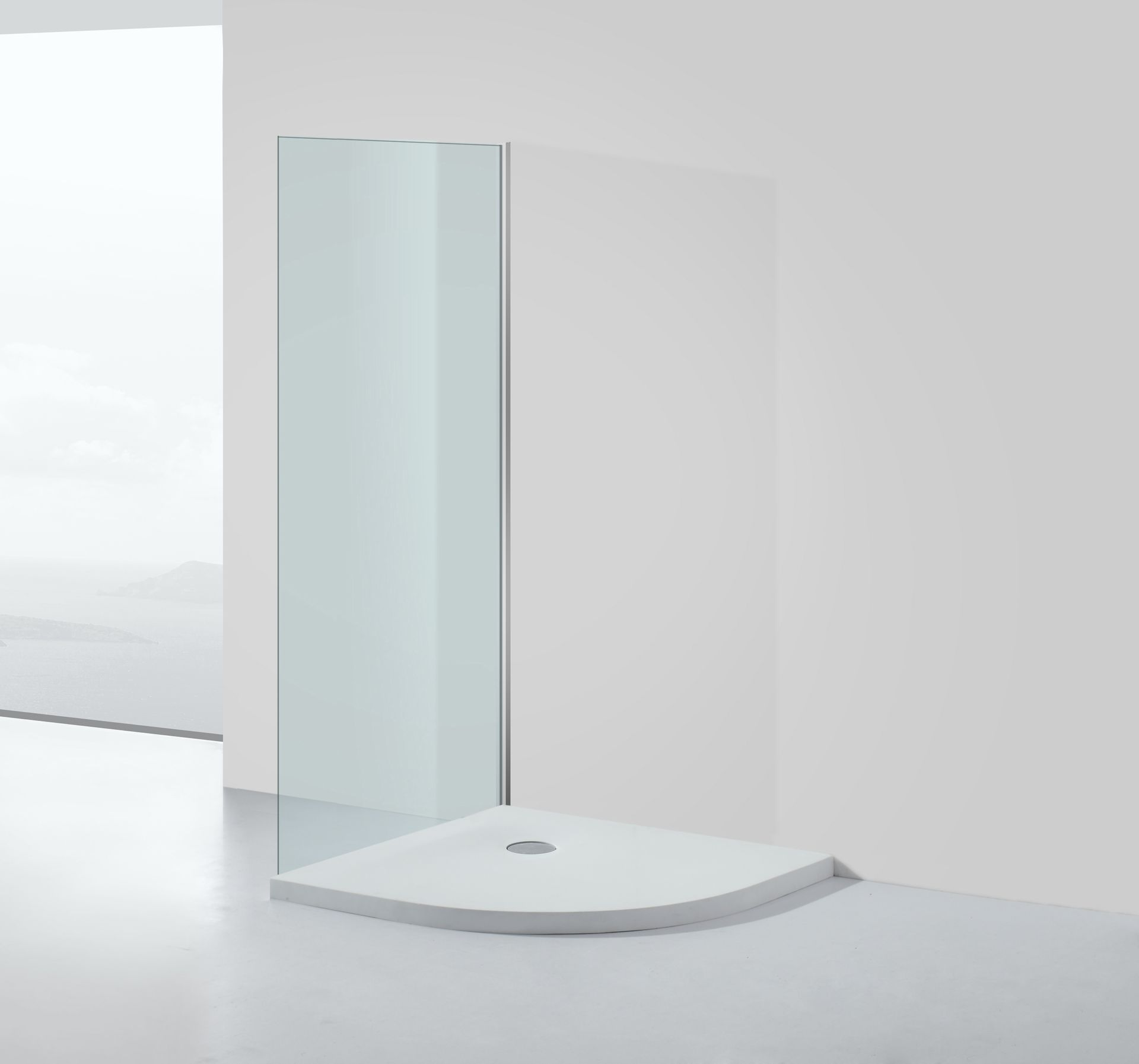 50 mm flache mineralguss duschtasse viertelkreis 80 x 80 cm duschwanne dusche ebay. Black Bedroom Furniture Sets. Home Design Ideas