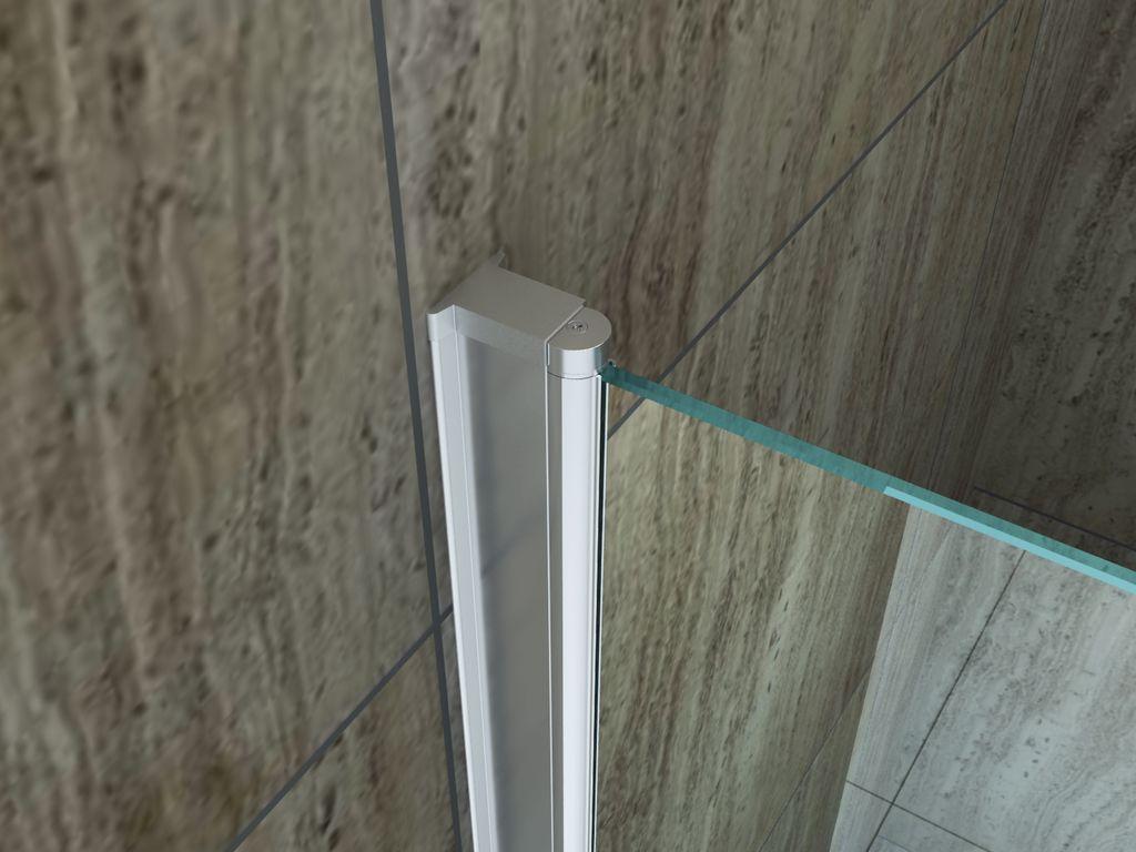 Duschkabine ED-01 80 x 80 x 190 cm ohne Duschtasse