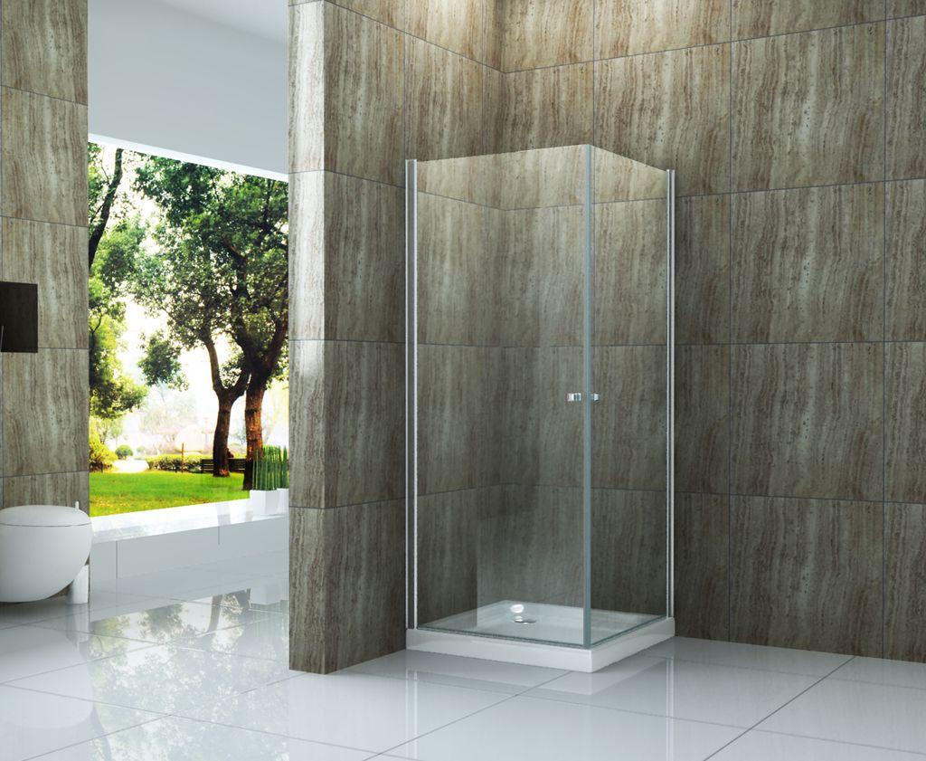 Duschkabine ED-02 80 x 80 x 190 cm ohne Duschtasse