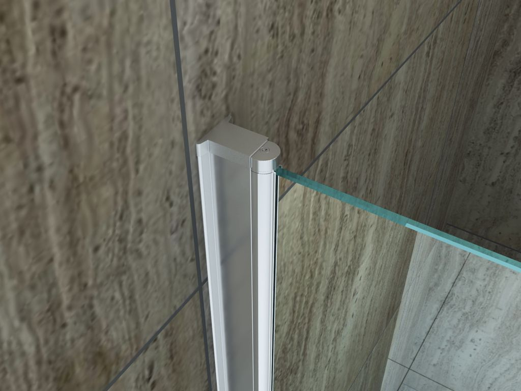 Duschkabine ED-02 80 x 90 x 195 cm inkl. Duschtasse