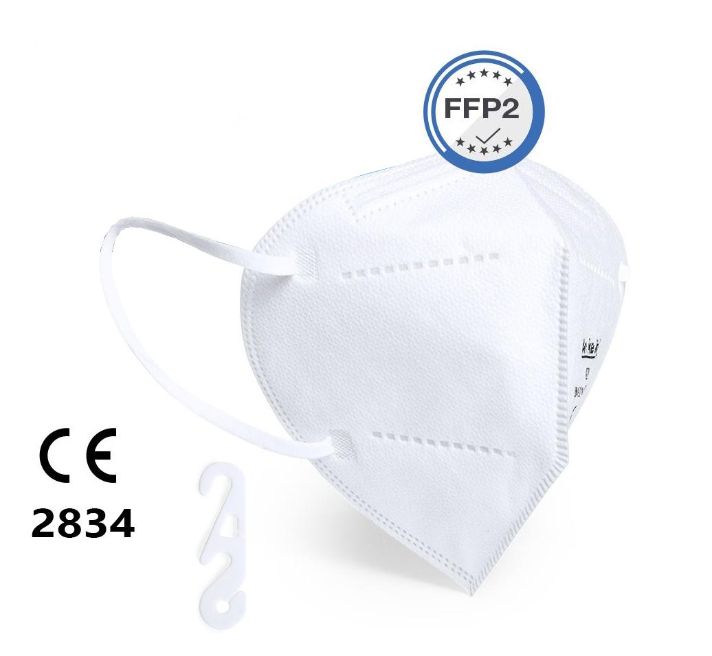 25 x FFP2 Maske faltbar, mit Gummizügen (ISO CE 2834)