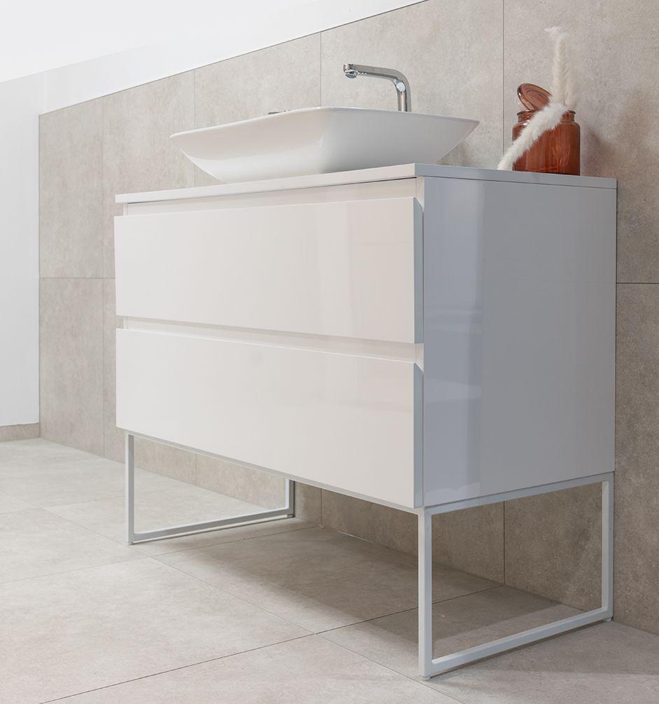 Badmöbel Unterschrank FULGIDO-80 (hochglanz-weiß) ohne Waschtisch