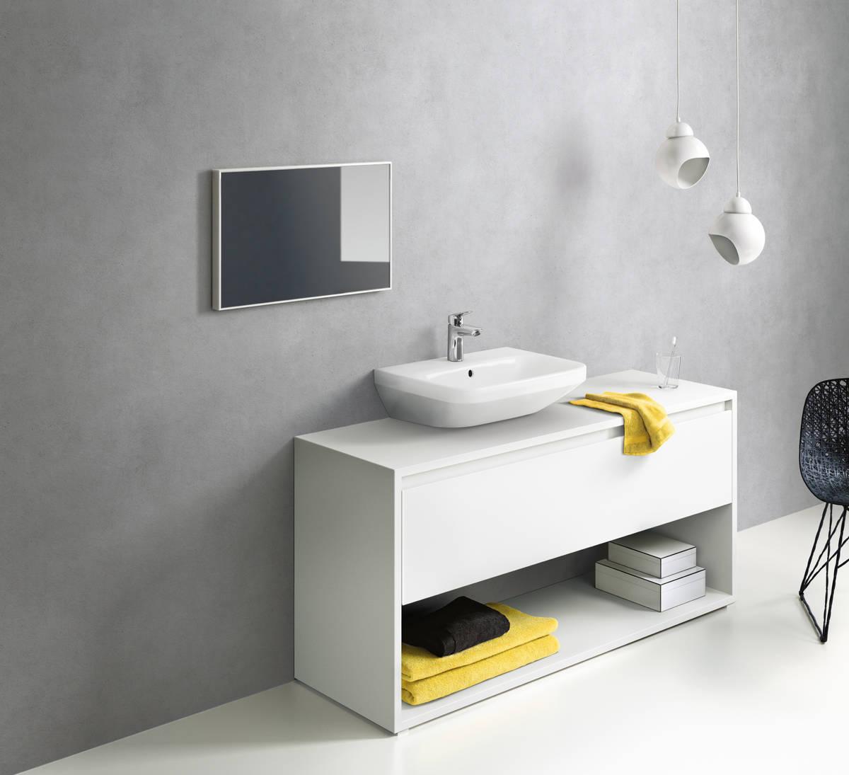 HG Logis Einhebel-Waschtischmischer 100 mit Zugstangen-Ablaufgarnitur