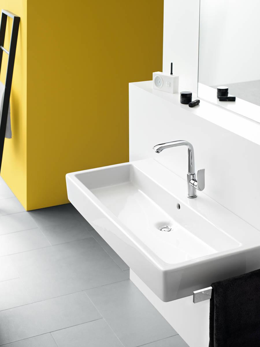 HG Metris Einhebel-Waschtischmischer 230 mit Zugstangen-Ablaufgarnitur