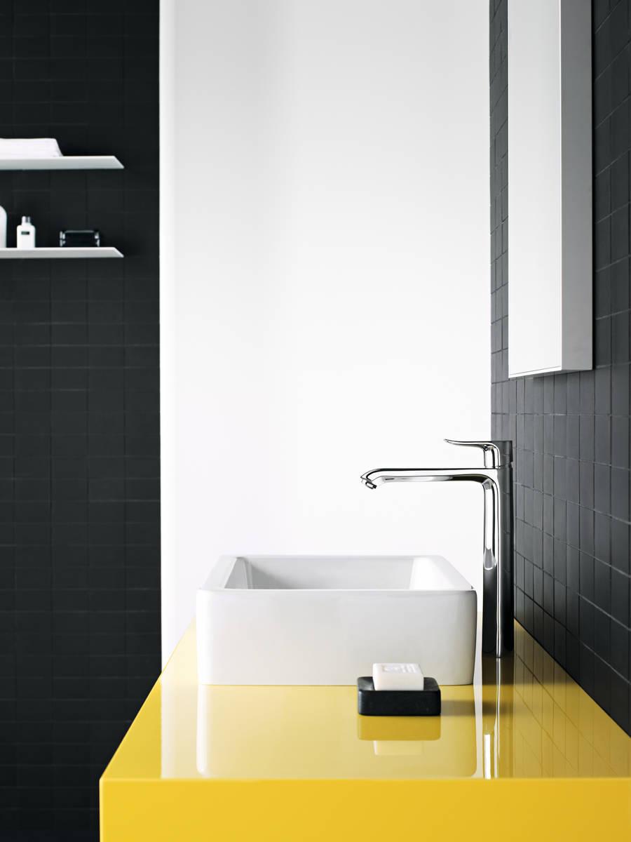 HG Metris Einhebel-Waschtischmischer 260 für Waschschüsseln mit Zugstangen-Ablau