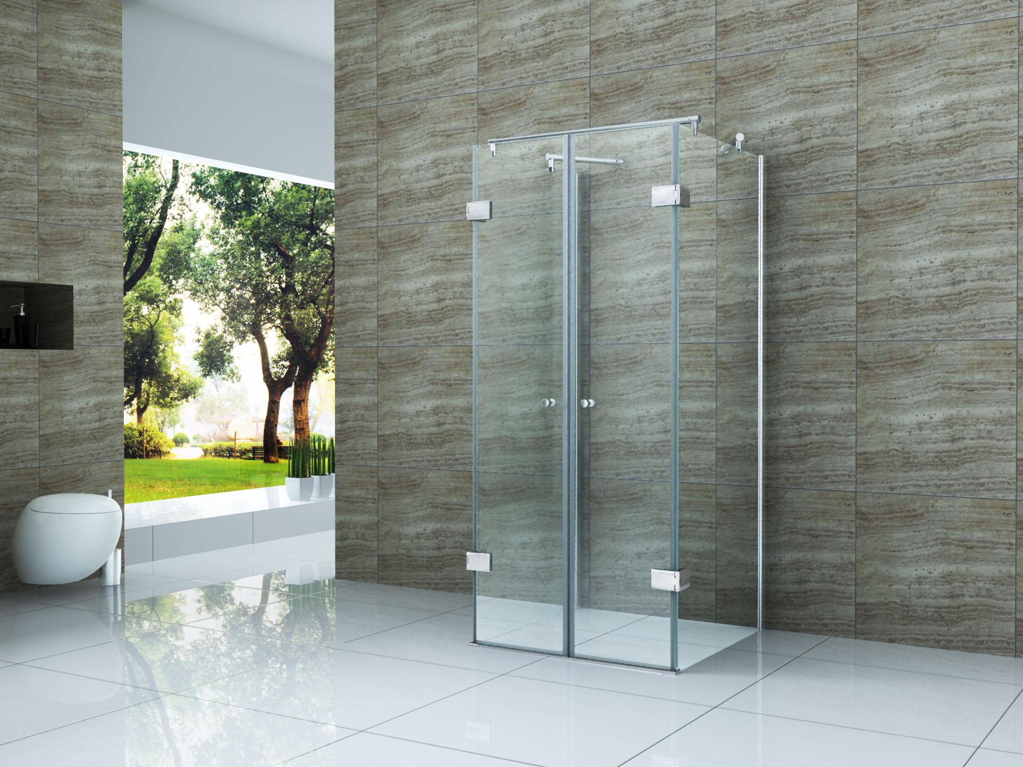 isola 90 x 90 x 180 cm u form dusche glas duschkabine duschabtrennung runddusche ebay