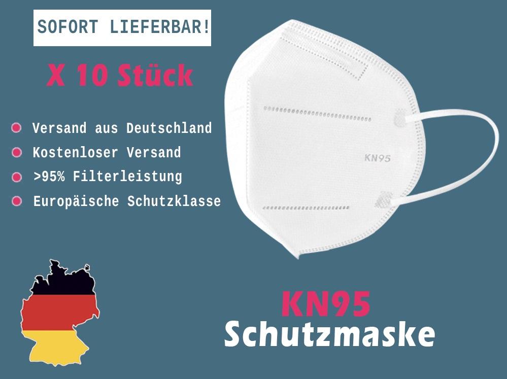 10 x KN95 Schutzmaske mit 4 Schichten (CE zertifiziert)