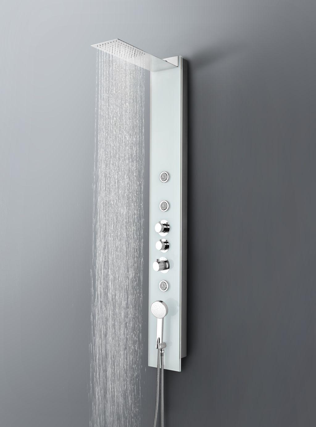 dusch paneel lp095 edelstahl duschs ule brause dusche sedal thermostat ebay. Black Bedroom Furniture Sets. Home Design Ideas