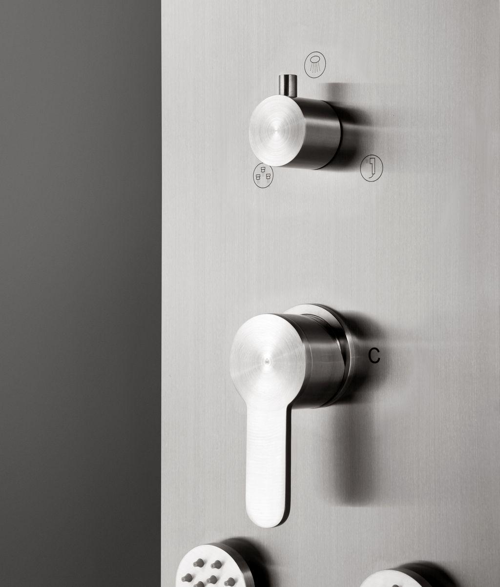 dusch paneel lp097 edelstahl duschs ule brause dusche sedal einhandmischer ebay. Black Bedroom Furniture Sets. Home Design Ideas