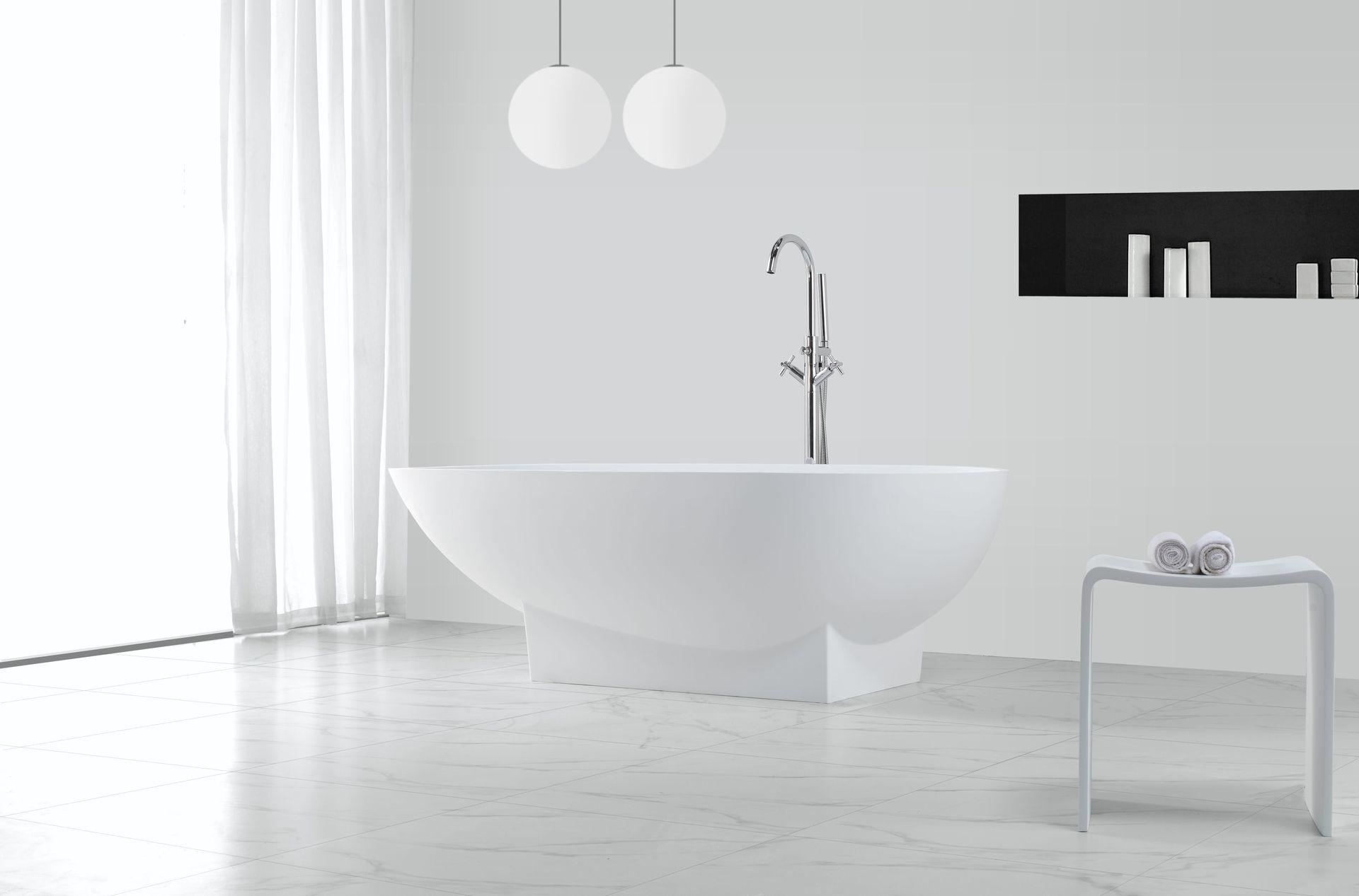 mineralguss badewanne mg b003 freistehend alphabad. Black Bedroom Furniture Sets. Home Design Ideas