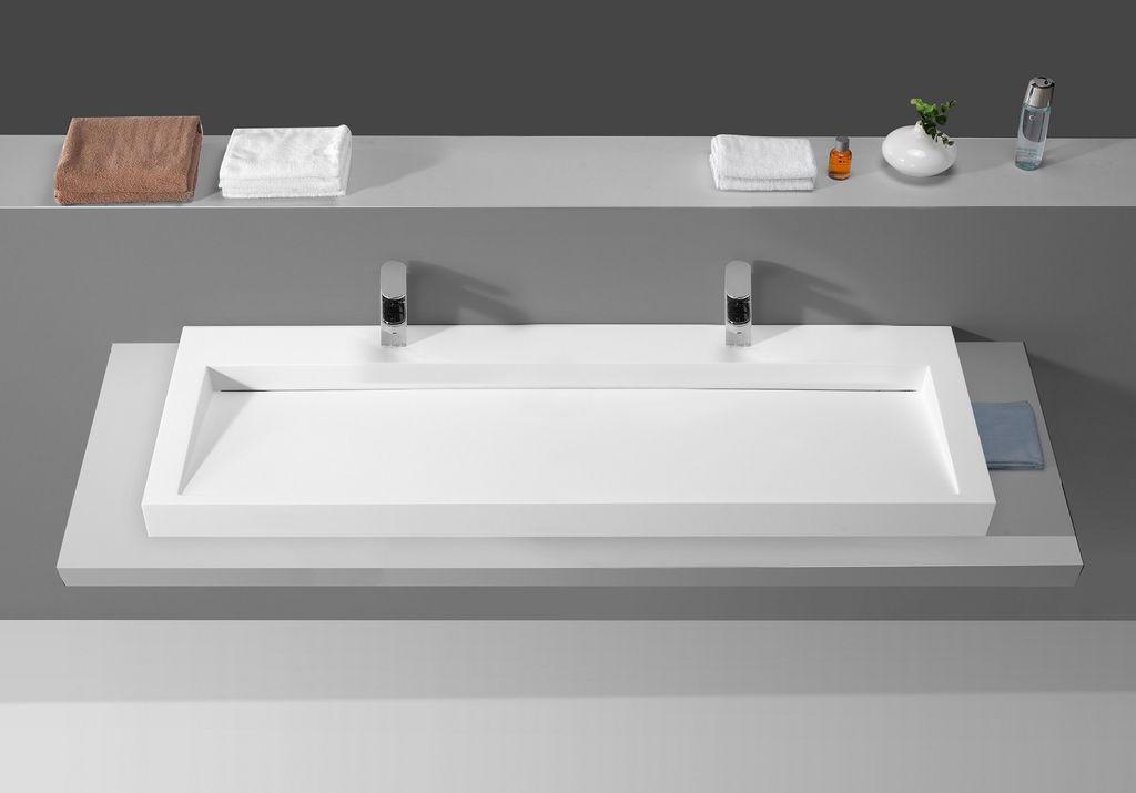 mineralguss aufsatzwaschtisch mg c041 140cm alphabad. Black Bedroom Furniture Sets. Home Design Ideas
