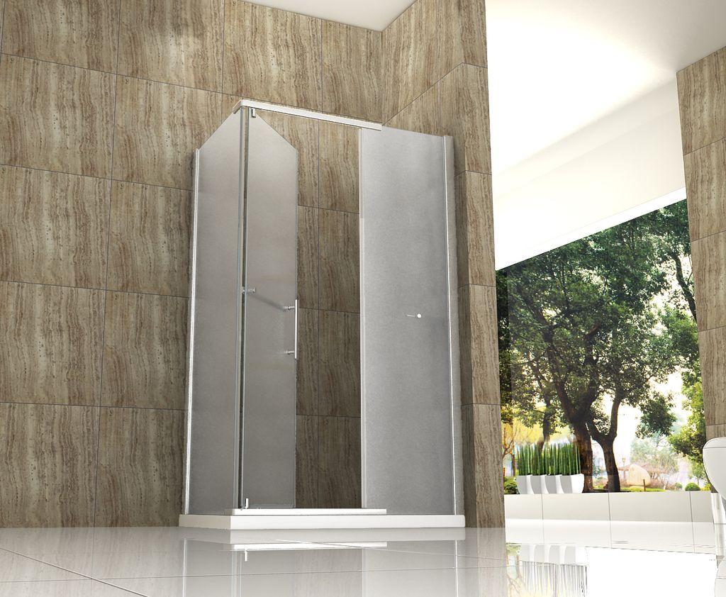 OPARGO-FR 120 x 90 cm Frost - Glas Dusche Duschkabine Duschwand ... | {Duschkabine komplett 64}