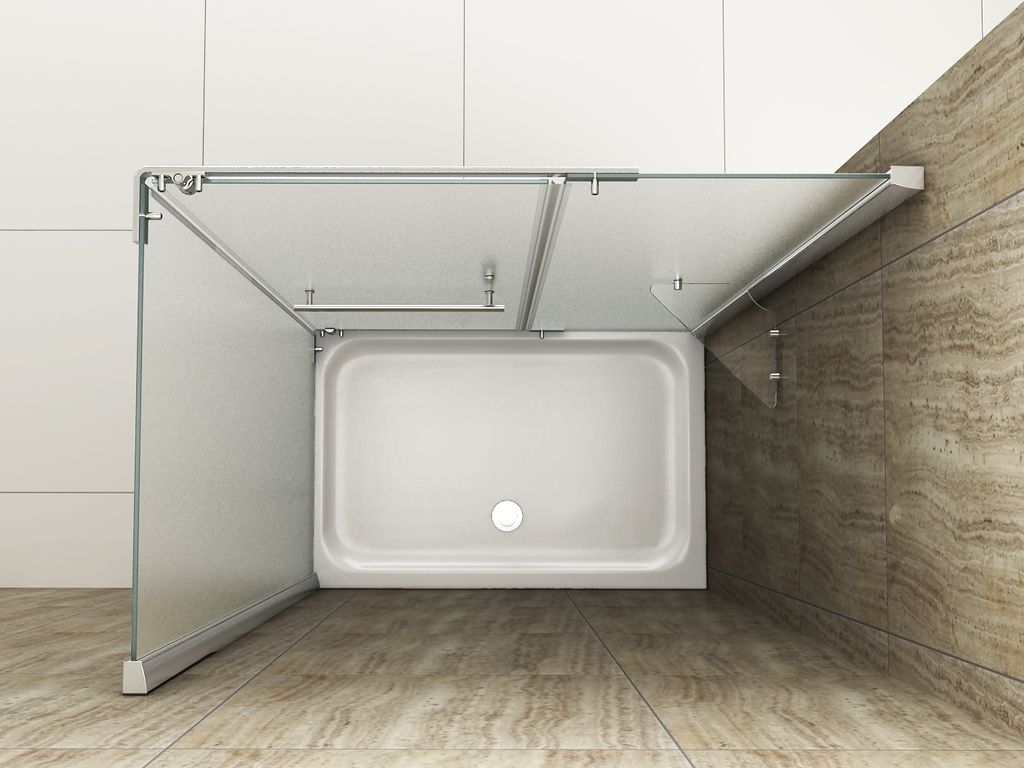Gut bekannt Duschkabine OPARGO-FR 100 x 80 x 195 cm ohne Duschtasse - alphaBAD HY09