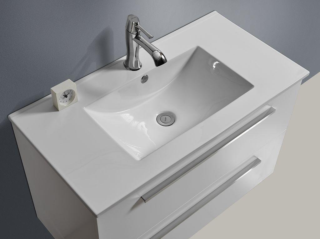 Waschbecken mit unterschrank weiß  Badmöbel Unterschrank OPORTO 60 (weiß) - alphaBAD