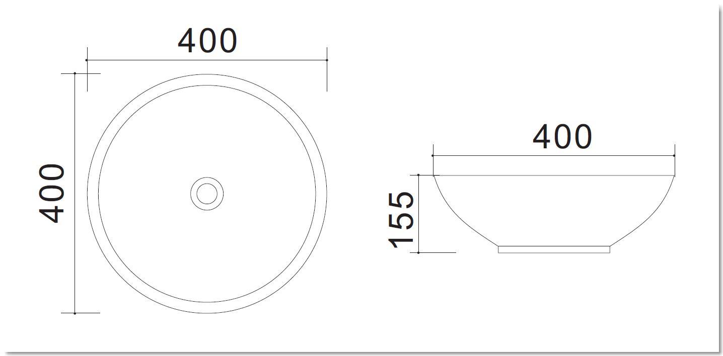 Aufsatzwaschtisch AW582206