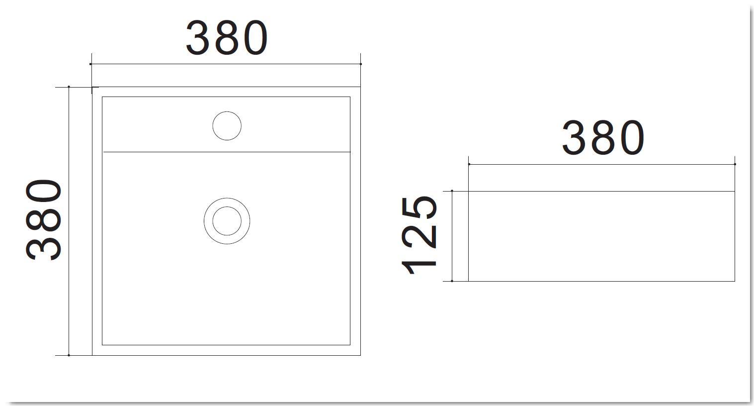 Aufsatzwaschtisch AW582208