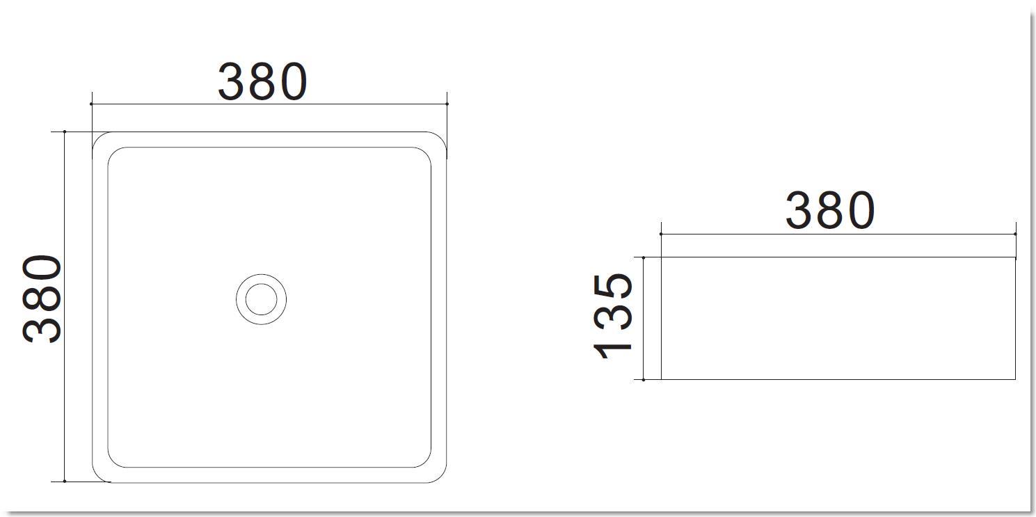 Aufsatzwaschtisch AW582213