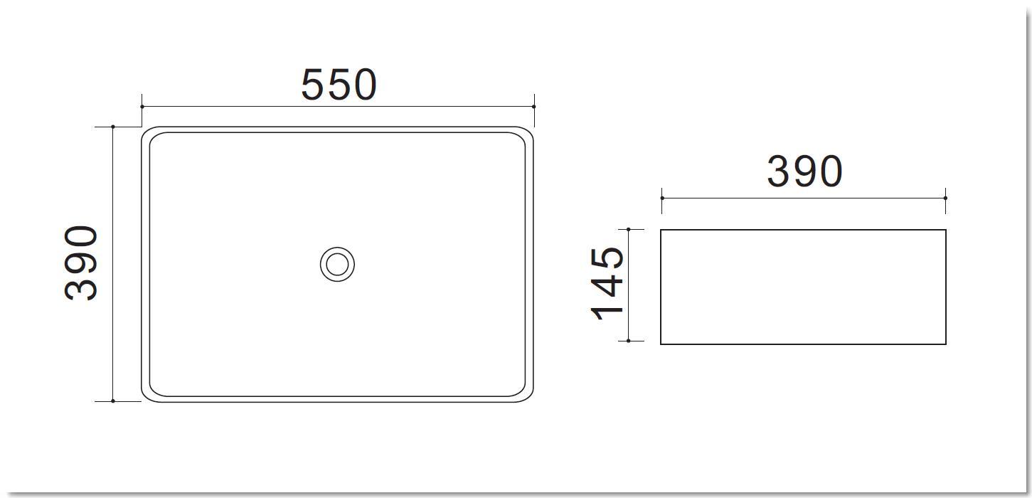Aufsatzwaschtisch AW582218