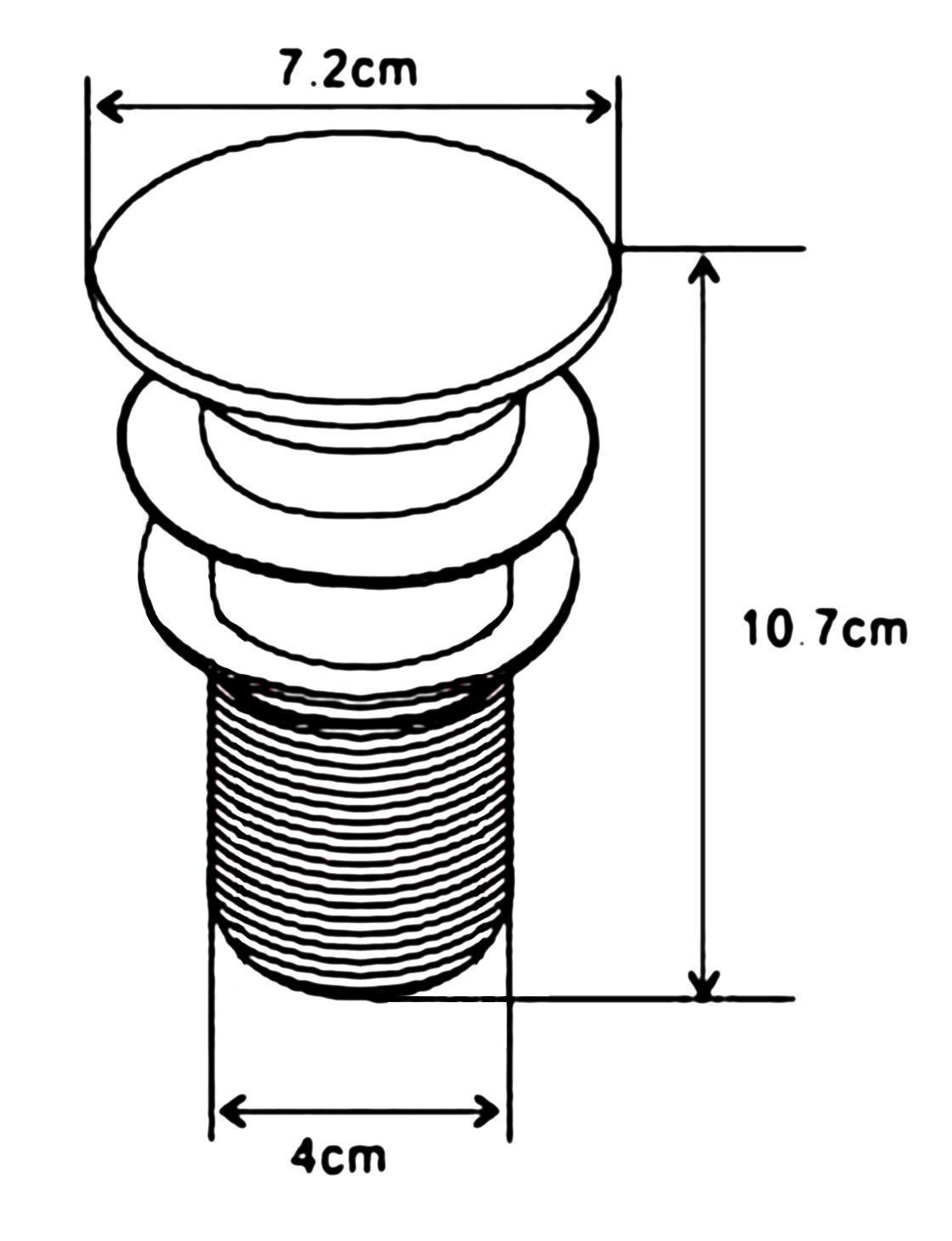 Pop-Up Waschtisch-Ablaufgarnitur ohne Überlauf (weiß glänzend)
