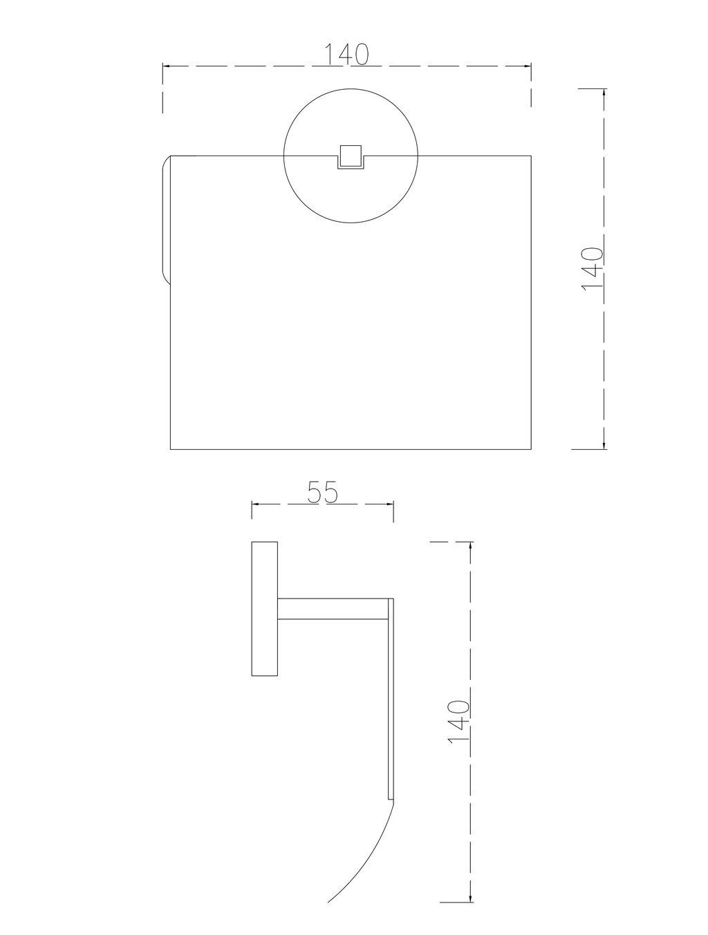 LF Toilettenpapierhalter mit Deckel