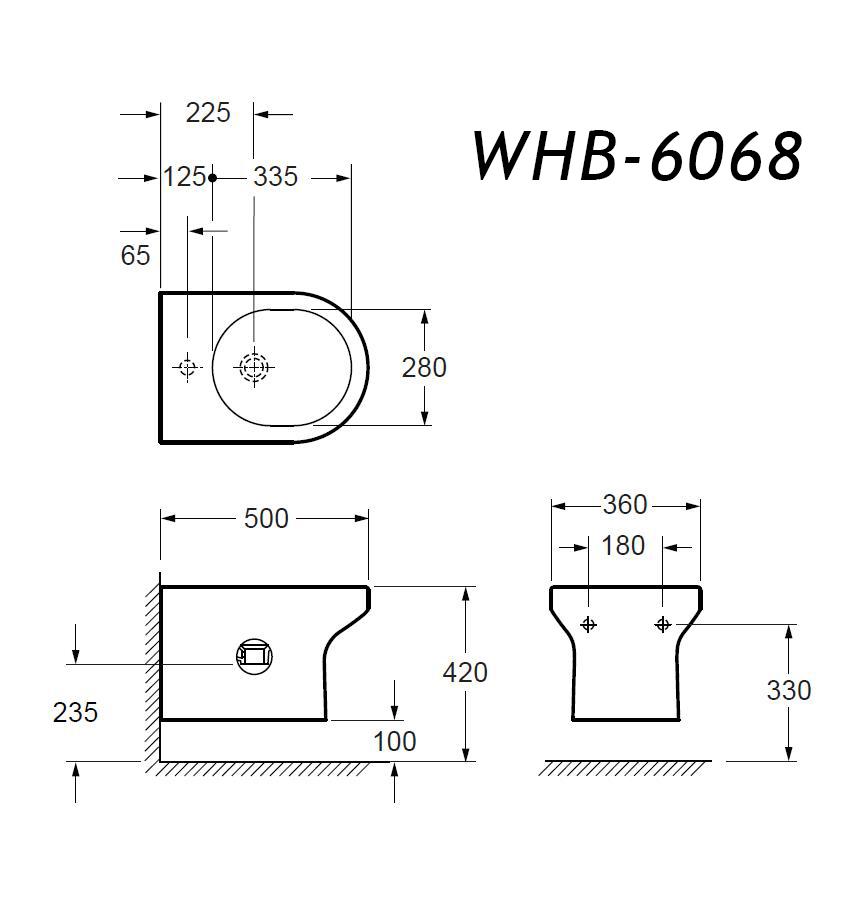 Wand-Bidet WHB-6068