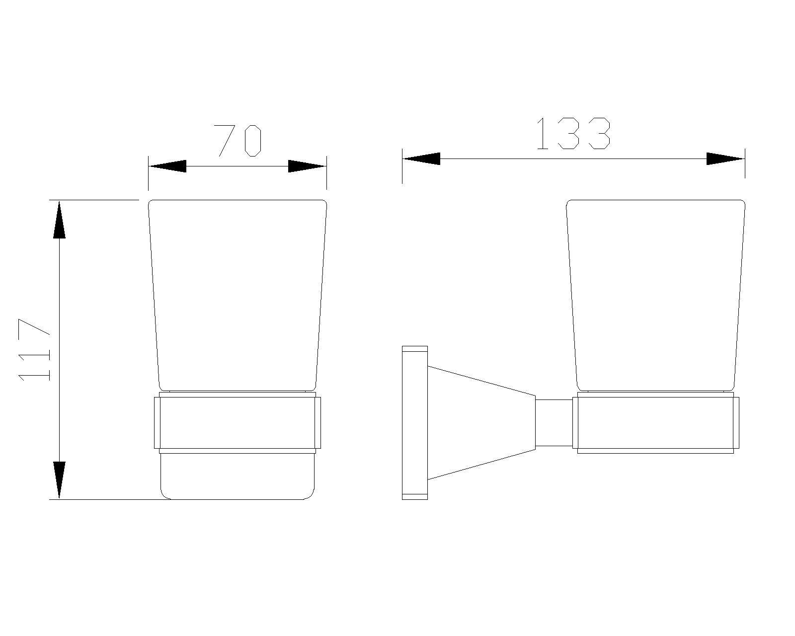 B-Serie Wandhalterung mit Mundspülglas