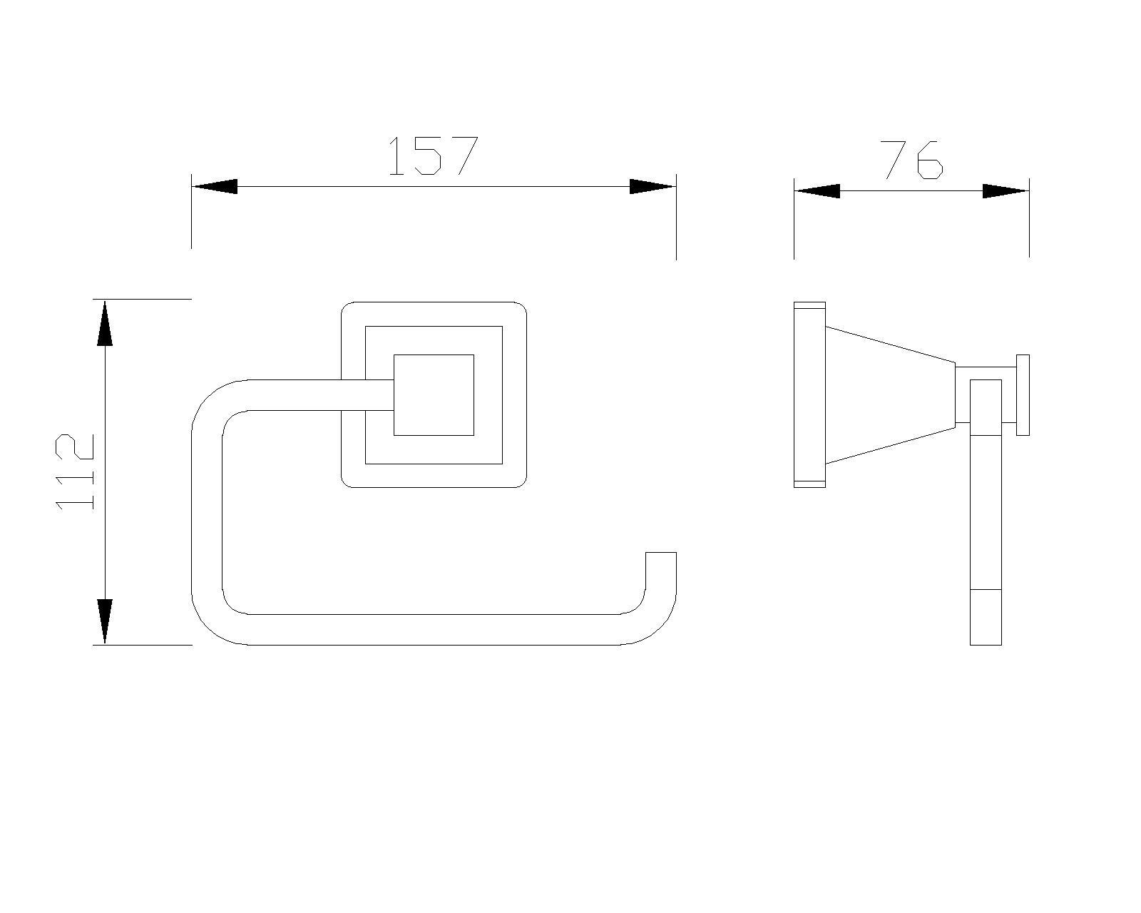 B-Serie Toilettenpapierhalter