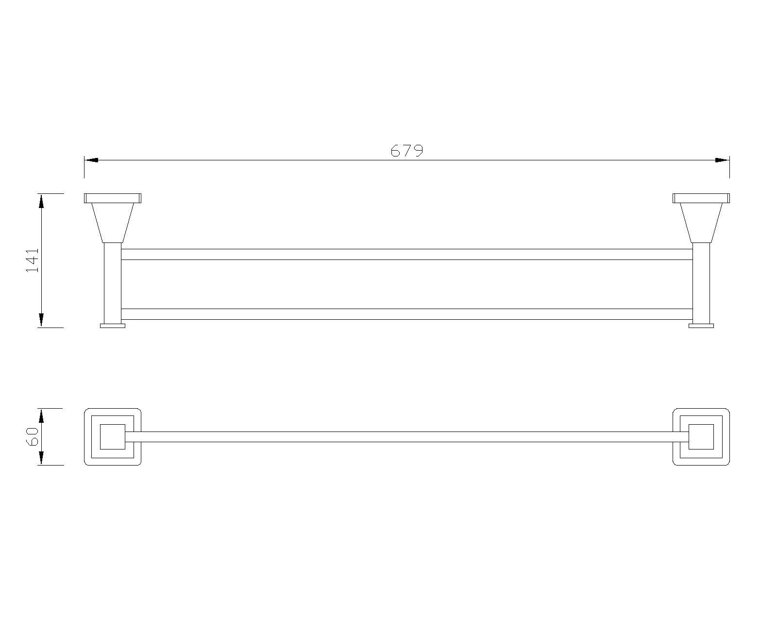 B-Serie Doppel-Handttuchhalter