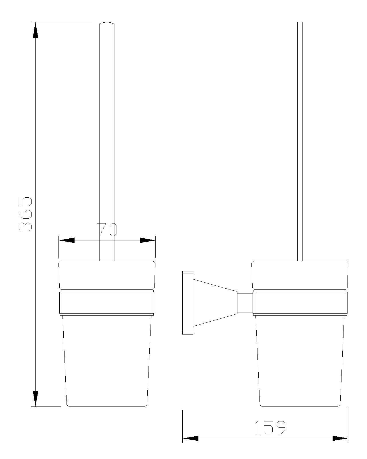 B-Serie Toilettenbürstengarnitur