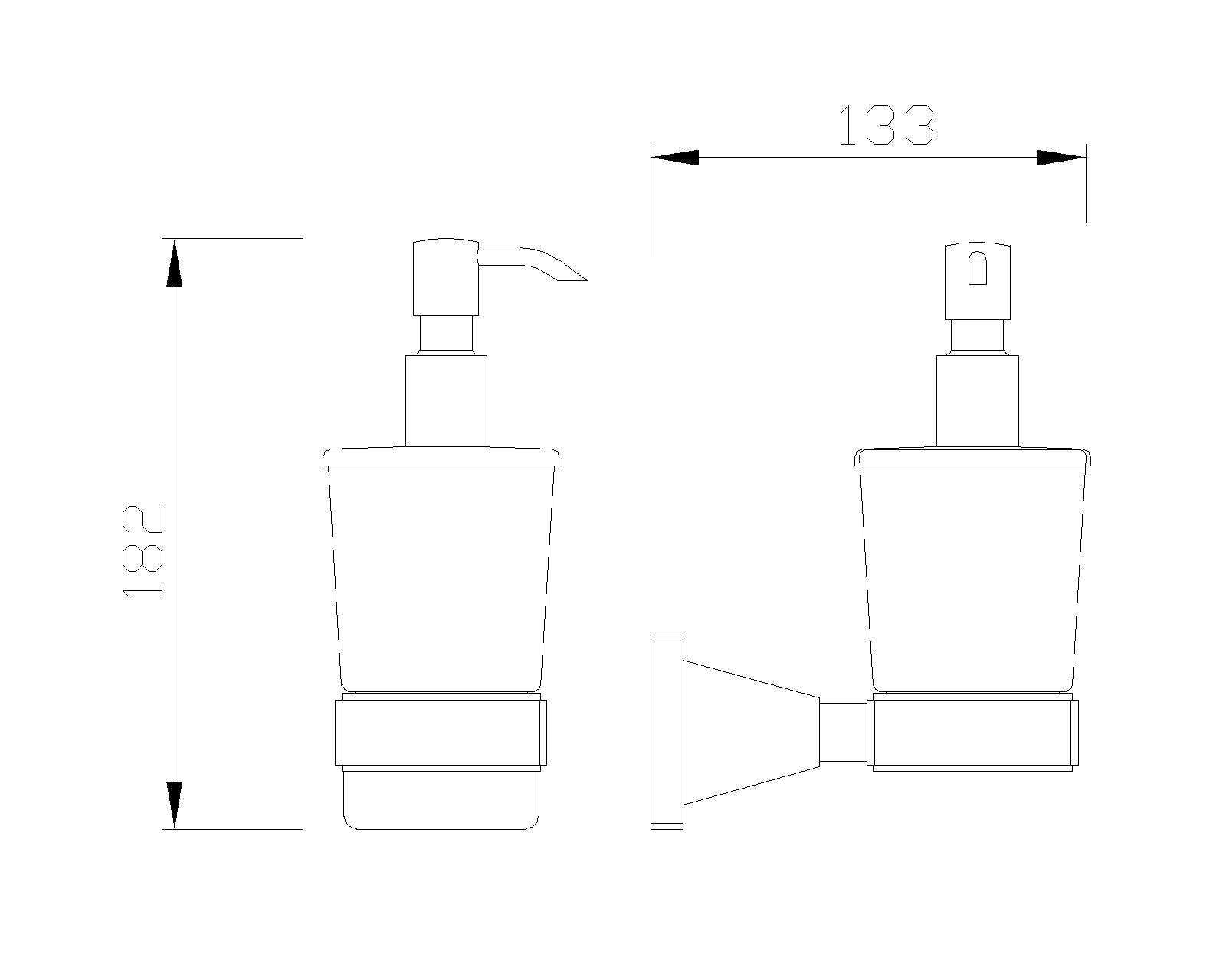 B-Serie Wandhalterung mit Seifenspender